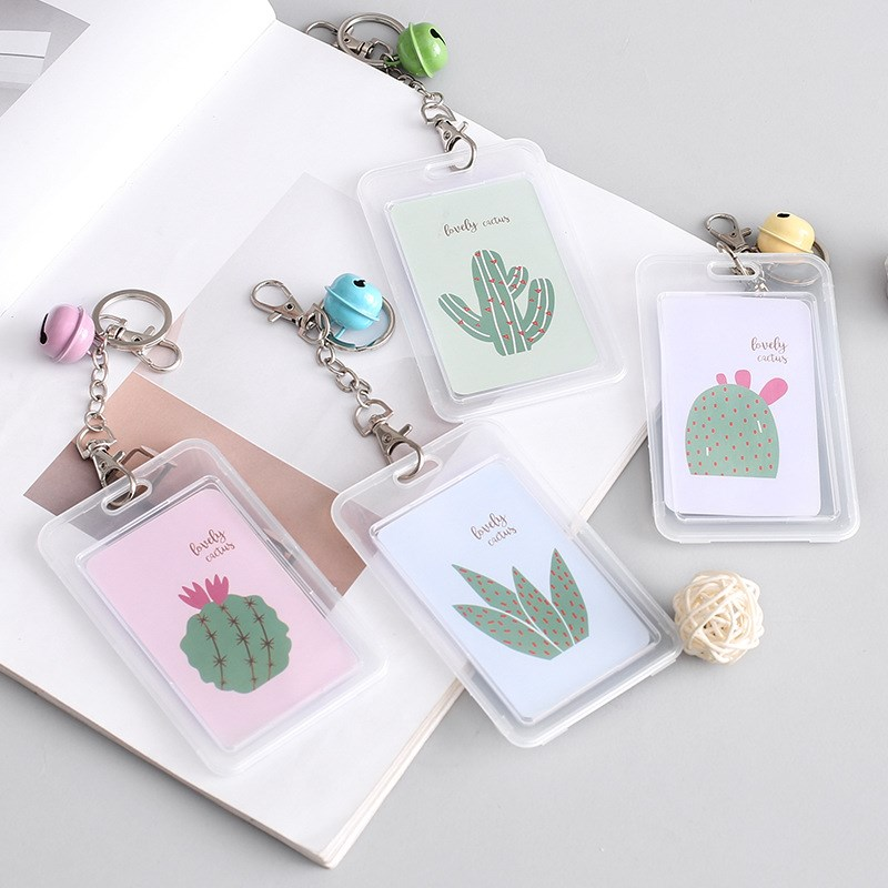 1pc Hot Sale Bank Credit Card Holder Cute Cactus Card Cover Women Men Fashion Card Bags Good Quality Card Case Kids Gift
