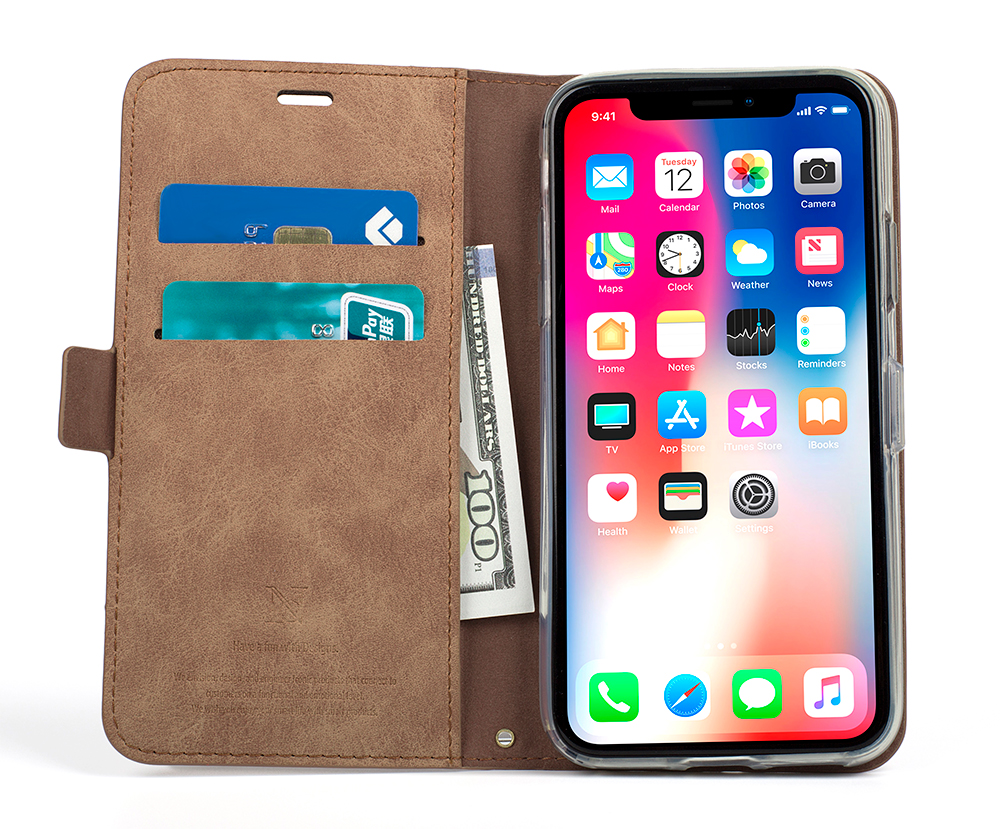 Купить Ретро Бизнес кожаный бумажник чехол для sony Xperia XZ2 крышка магнитных флип чехол для телефона держателя карты чехлы для смартфонов Coque на Алиэкспресс