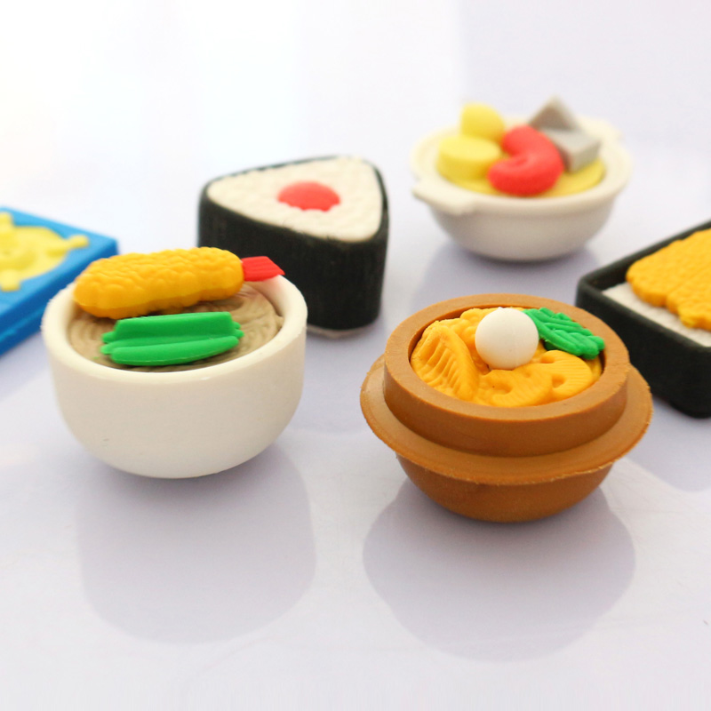 Image 3 - Free ship!20set!super hot!!3D Simulation fruit/food/animal/tool/car blister card erasers/30 model for choic-in Eraser from Office & School Supplies