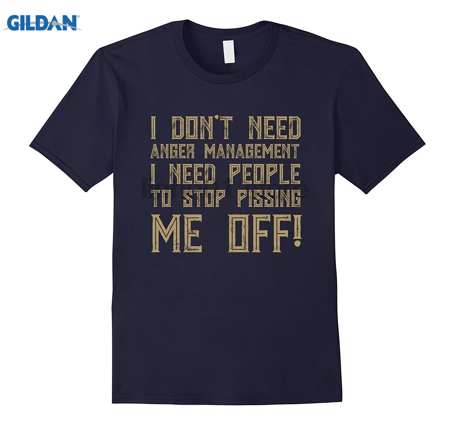 GILDAN I Dont Need Anger Management Just Stop Pissing Me Off T Shi glasses Womens T-shirt Womens T-shirt
