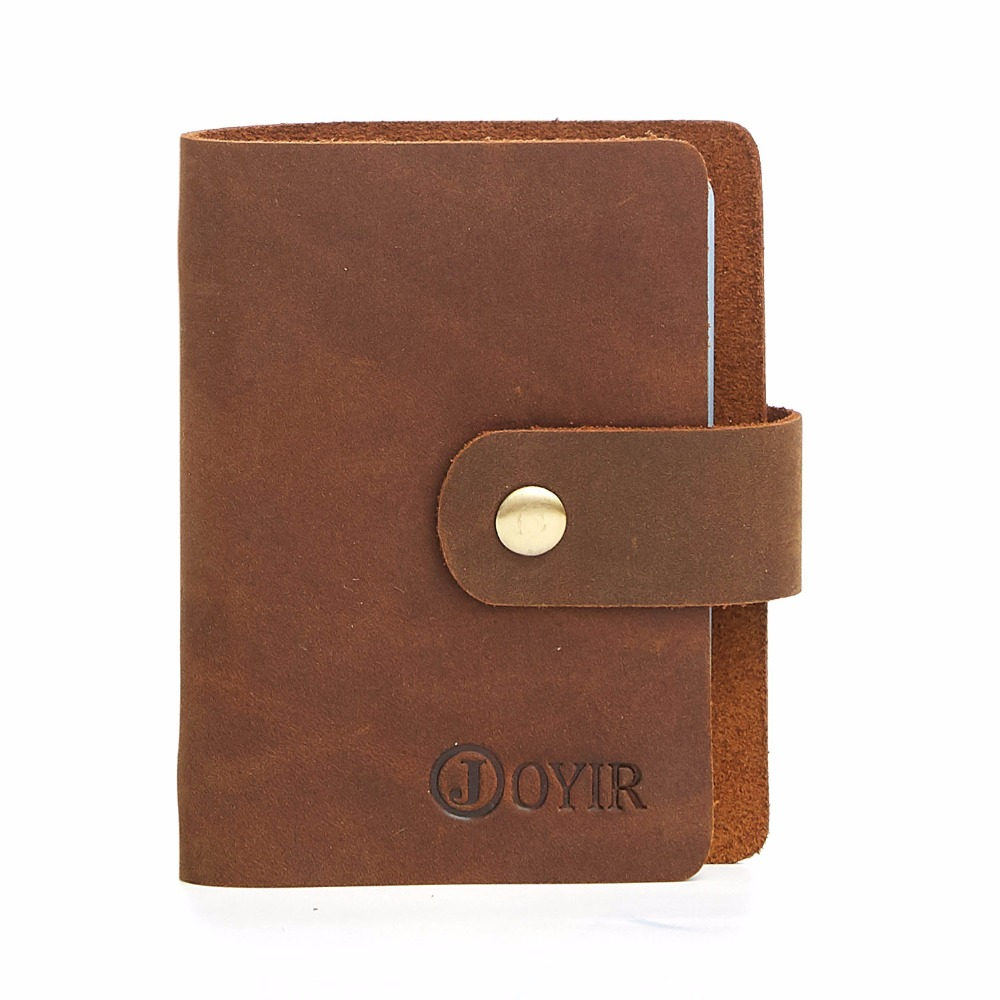01cf608ce6b9 US $9.74 30% OFF|JOYIR New 16 Card Slots Men Credit Card Holder Vintage  Genuine Leather Men Purses Wallets Card Cases For Male Bag Wholesale  K015-in ...