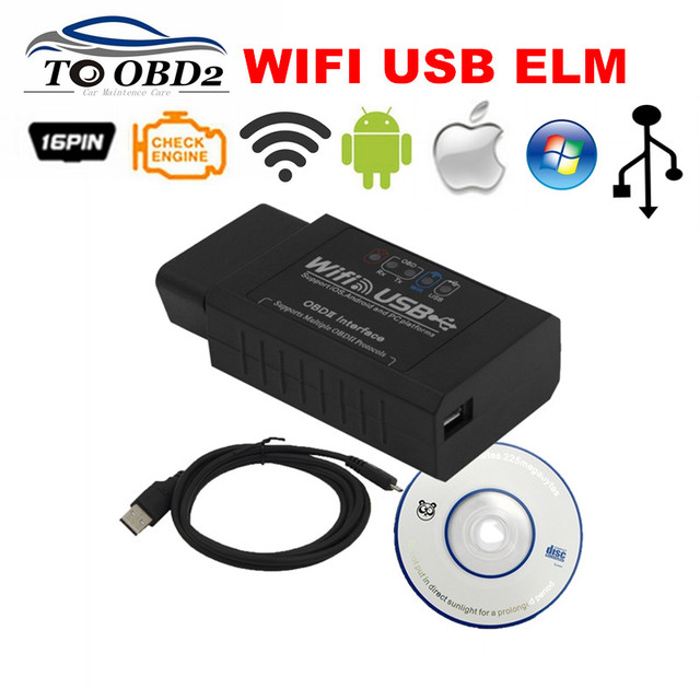 elm327 wifi usb car diagnostic code reader supports all obd2 protocols works android ios pc elm. Black Bedroom Furniture Sets. Home Design Ideas
