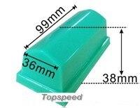 Cabezal de almohadilla de goma de silicona de 99x36mm para impresora de almohadilla base de madera