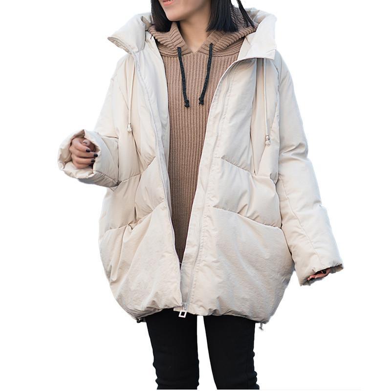 Parka Ouatée Épaissir 2018 Manteau Femme V165 Veste Occasionnel Rembourré Automne white Chaud Coton Pinck Solide Manteaux Outwear Lâche black Hiver Femmes Courte g6tadxZna
