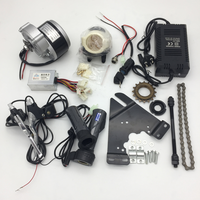 DC Brush Motor Kit DIY Wheel Electric Motors For Ebike Electric Bicycle Conversion Kit Bike Motor Sets MY1016Z 24V 36V 350W 250W-in Electric Bicycle Accessories from Sports & Entertainment on Aliexpress.com | Alibaba Group