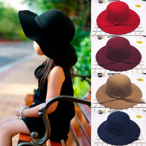 Sweet Girls Kids Bowknot Hat Bowler Sun Caps Bonnet Toddler Photography Props 5 Colors(China)