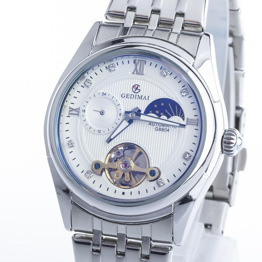 GEDIMAI Skeleton Automatic Watch Men Waterproof Flying Tourbillon Mechanical Watches Mens Self Winding Horloges Mannen Dropship цена и фото