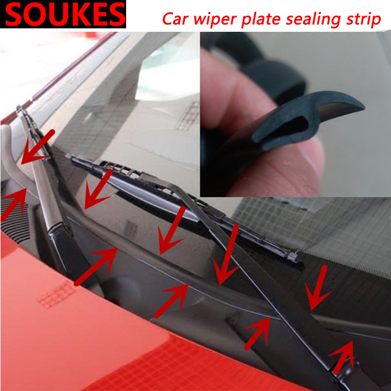1.7M Car Wiper Panel Moulding Dashboard Sealing Strip For Mitsubishi Lancer ASX Pajero X Ford Focus 2 3 Fiesta Citroen C4 C5