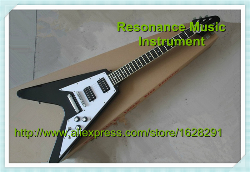 China Custom Guitar Factory Electric Guitar Flying V Standard Dot Inlay In Stock For Sale in stock china factory custom guitar machine tuner taiwan production of acoustic guitar machine tuner free shipping