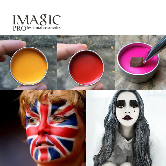 imagic halloween party fancy dress beauty makeup face paint tools monochrome flash tattoo face body paint - Halloween Pictures To Paint