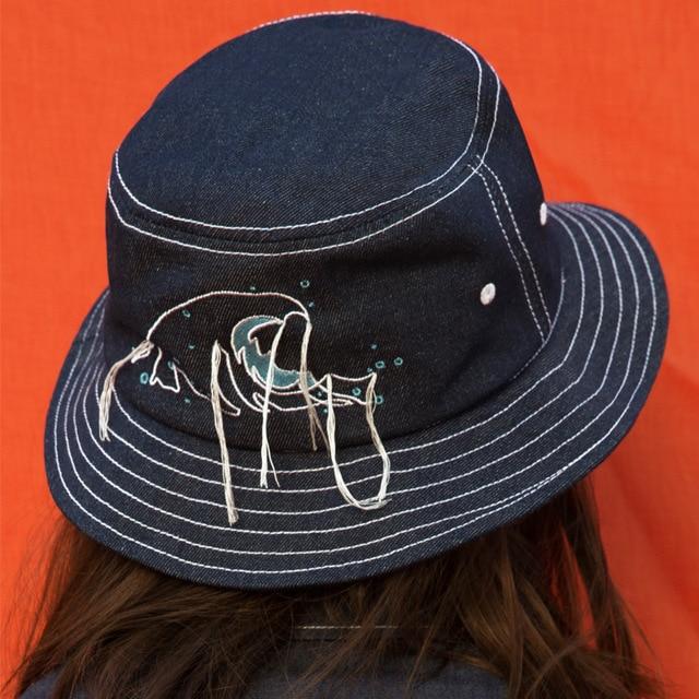 747342c85ca Embroidered Fisherman Hat Bucket Hat Fisherman Hats Men Women Outer 2018  Summer Street Hip Hop Dancer