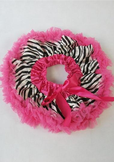 Юбка-пачка Одежда для маленьких девочек; нарядная одежда; юбка-пачка балетная юбка, пачка летняя одежда аксессуары для фотографирования новорожденных, ярко-розовым шифоном - Цвет: with zebra