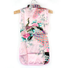 Kids Chinese Qipao Baby Girl Floral Peacock Cheongsam Dress for 2 8 Years New
