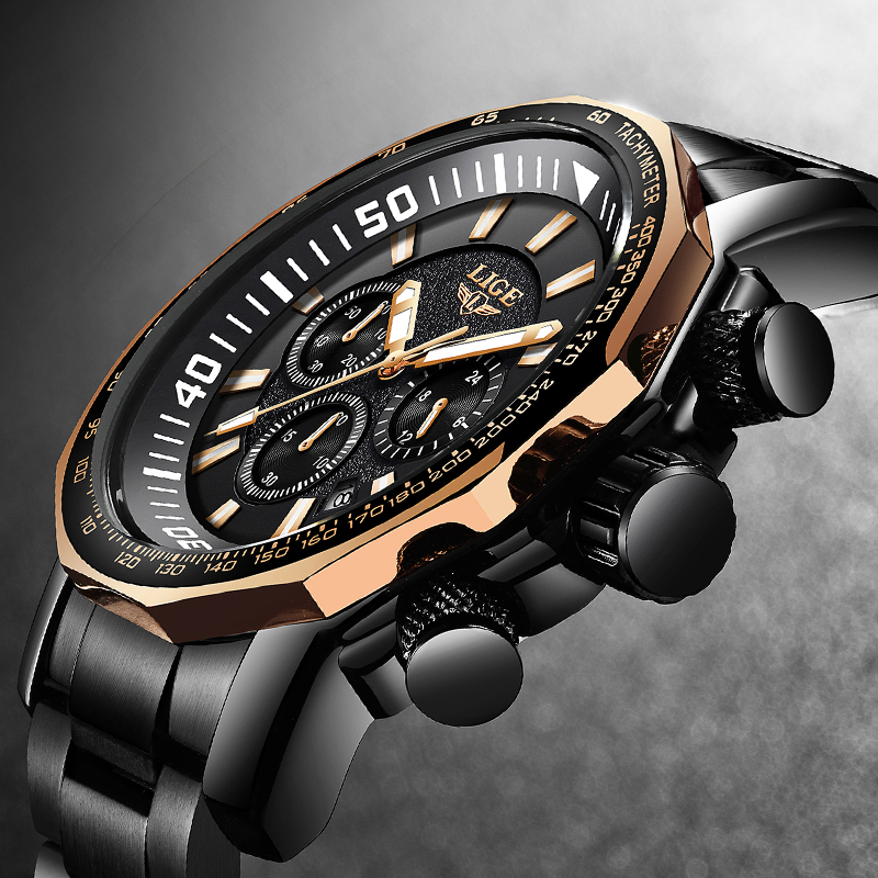 Ανδρικά ρολόγια LIGE Κορυφαία ασημένια - Ανδρικά ρολόγια - Φωτογραφία 4