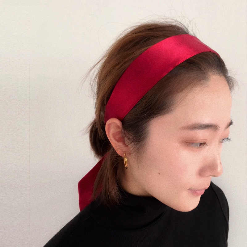 Nouveau soie petites femmes mode écharpe cheveux sac poignée décoration cravate multifonction main ruban 4.5*100 cm mode moins cher présent