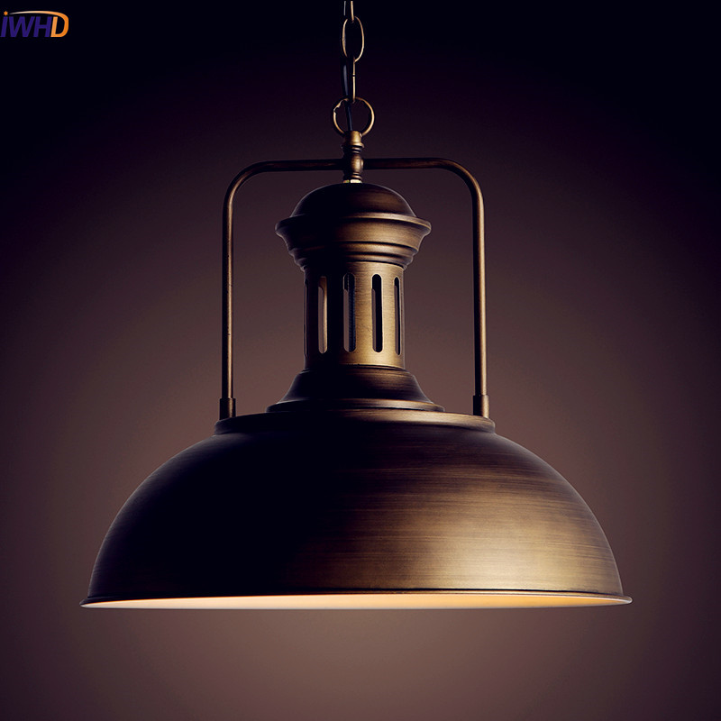 IWHD American Loft Style Industrial Pendant Lighting Fixtures Retro Vintage Lamp Light Edison LED Lamparas Colgantes iwhd rh edison vintage lamp industrial pendant lighting fixtures with lampshade in loft style lamparas colgantes