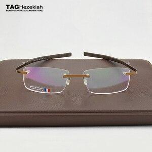 Image 3 - 2019 Frameless Eyeglasses Brand TAG Hezekiah Myopia Glasses Frame for Man and Woman TH0341 eye glasses oculos de grau eyewear