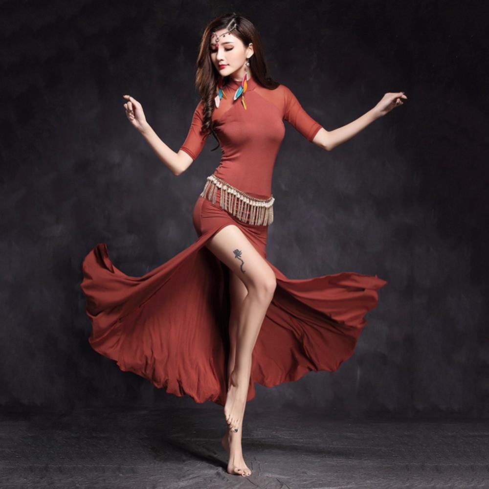 2017 Sexy Belly Dance Dress Modal Gauze Princess Jasmine ...