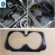 yimaautotrims Auto Accessory Front Row Seat Water Cup Holder Frame Cover Trim ABS Fit For Mercedes Benz GLC X253 2016 - 2019