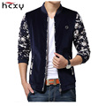 2016 Fashion Brand Mens jackets New Casual Flower Print Floral Jacket Zipper Coat male Big Size jacket for men
