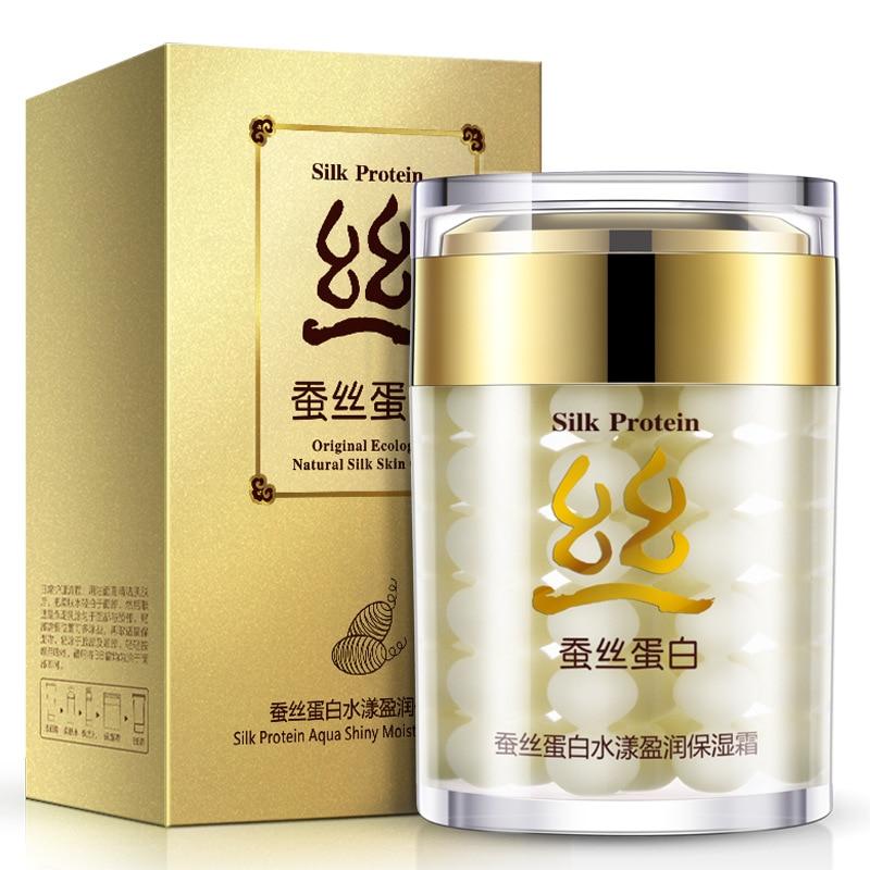 BIOAQUA Silk Protein Moisturizer Shiny Moisturizing Cream Deep Moisturizing Face Cream Shrink Pores Anti Wrinkle Essence
