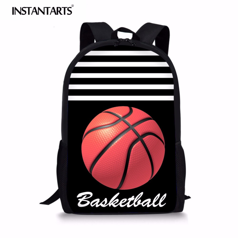 Constructive Instantarts 3d Soccerly Basket Ball Pattern Women Men Children Large Schoolbags Backpack Teenager Girl Boy Bagpack Kids Satchel Strong Resistance To Heat And Hard Wearing Lights & Lighting