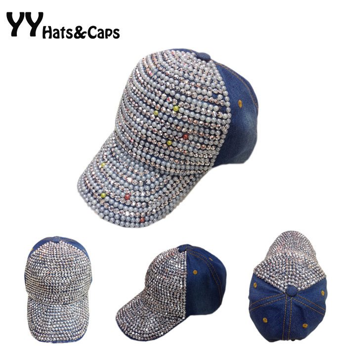 c615d1e6b73 Товар Cotton Diamond Caps Crystal Rhinestone Peal Caps Woman ...