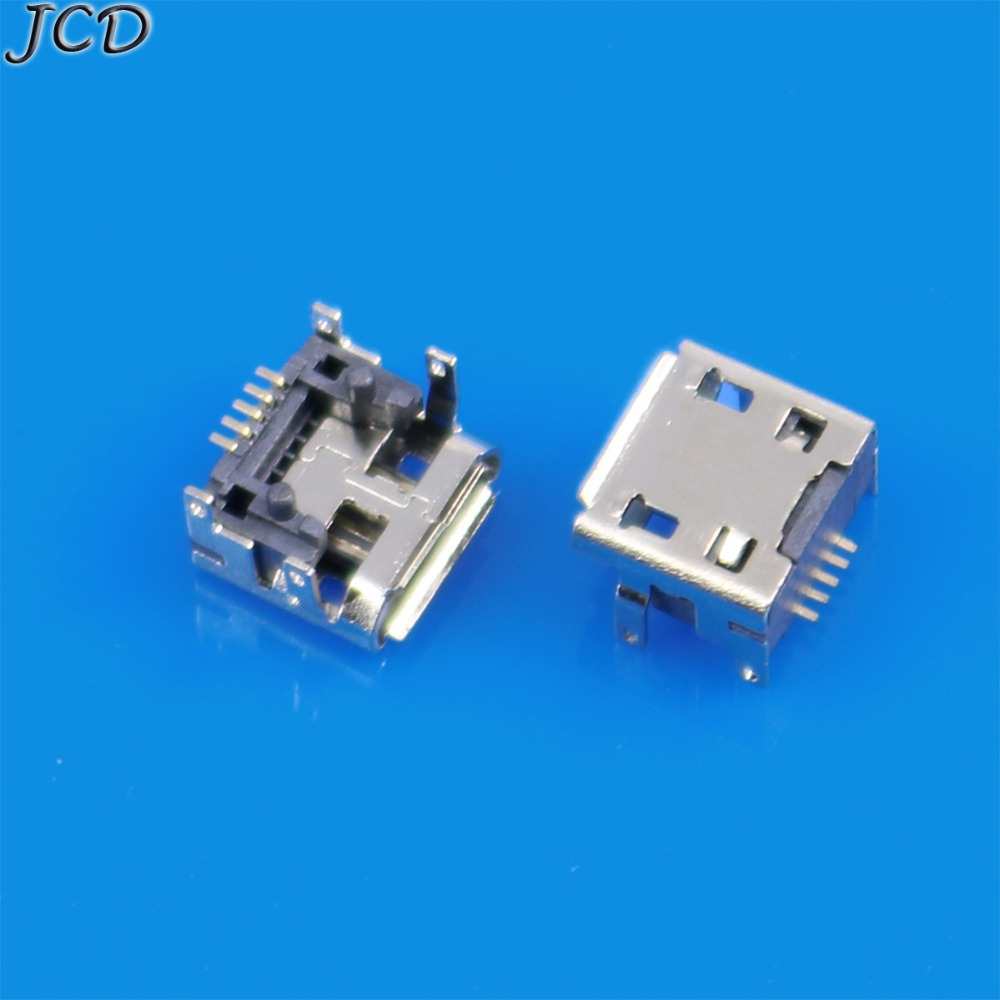 JCD 2pcs 5 pin 5pin type B for <font><b>JBL</b></font> <font><b>Charge</b></font> <font><b>3</b></font> FLIP <font><b>3</b></font> Bluetooth <font><b>Speaker</b></font> Micro mini USB Charging Port jack socket Connector <font><b>repair</b></font> image