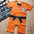 Dragon Ball Baby Rompers Новорожденного Мальчика Одежда Для Новорожденных Малышей Bebe Комбинезон Хэллоуин Костюмы Для Baby Boy Девушка Одежда