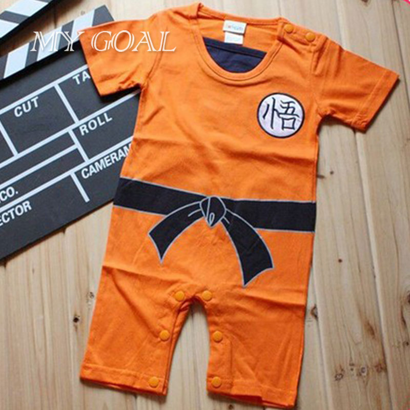 Dragon Ball Baby Rompers Newborn Baby Boy Clothes Infant Toddler Bebe Jumpsuit Halloween Costumes For Baby Boy Girl Clothing cotton baby rompers infant toddler jumpsuit lace collar short sleeve baby girl clothing newborn bebe overall clothes h3