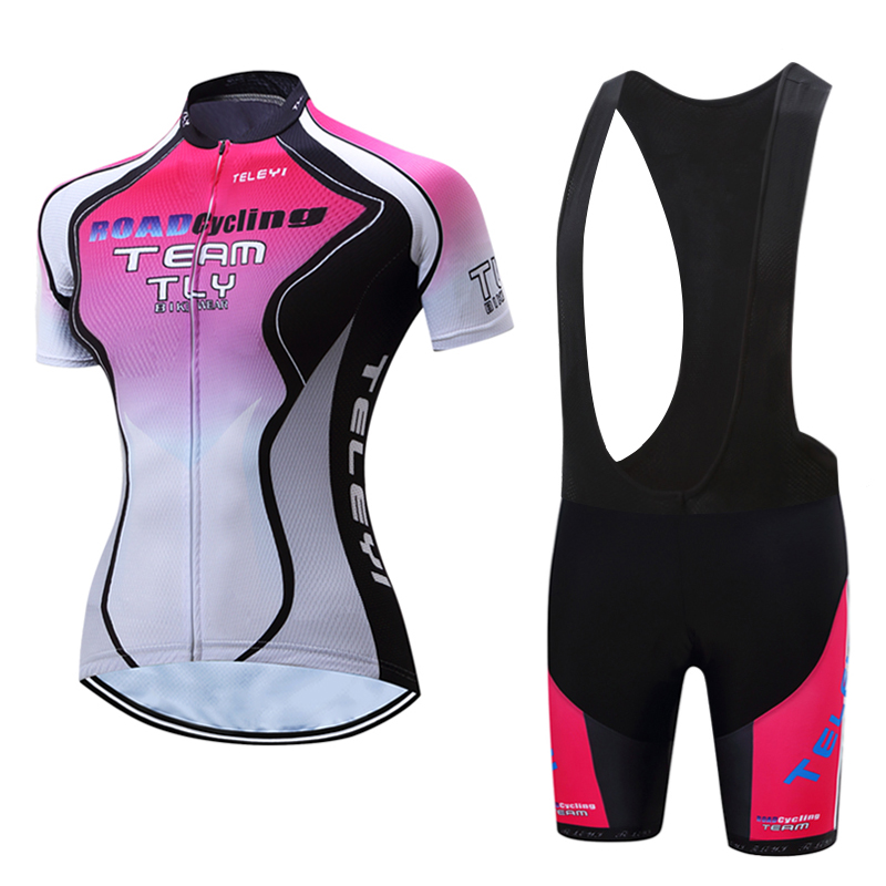 Breathable MTB Bike Clothing Women Bicycle Clothes Ropa Ciclismo Cycling Wear 100% Polyester Cycling Jersey Set