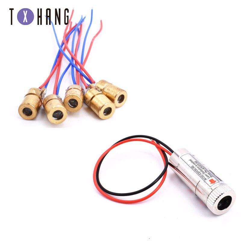 1 Pc Rote Linie Laser Modul 5 Mw 650nm Fokus Einstellbar Laser Kopf 5 V Industrie Grade HöChste Bequemlichkeit