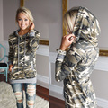 Moda primavera Camouflage Moletom Com Capuz Hoodies da Camisola Das Mulheres Hoodies Marca D' Água