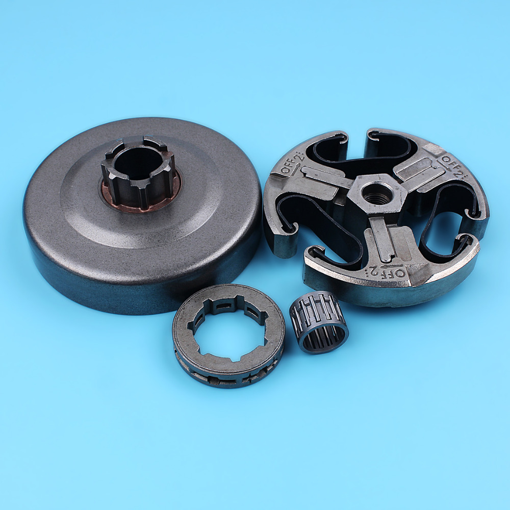 Clutch Assy Drum Sprocket Rim Needle Bearing Kit For Husqvarna 268 272 XP 61 66 266 Jonsered 625 630 670 Chainsaw 3/8-7 Teeth chain brake cover handle clutch drum bell for husqvarna 61 268 272 xp 272xp 266 66 chainsaw