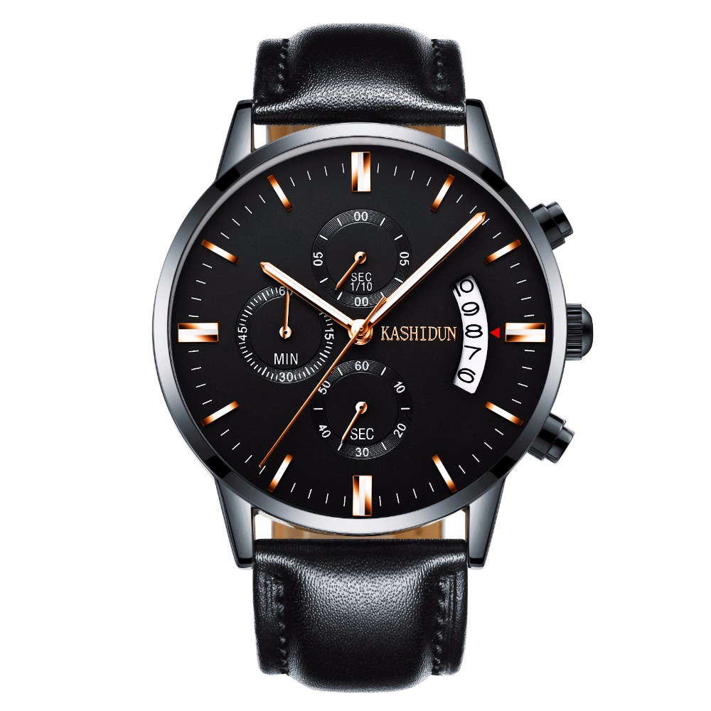 megir army metallic date t feet chronograph luxury appearance sporty is splatterproof won its band you who watch takes watches leather wrist on analog black go cool those your for us design look compromise wherever great itm men