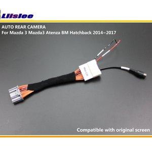 Image 4 - מצלמה אחורית הפוך מצלמה עבור מאזדה 3 Mazda3 BM Hatchback 2014 2015 2016 2017 2018 2019 סטי המקורי מסך תואם