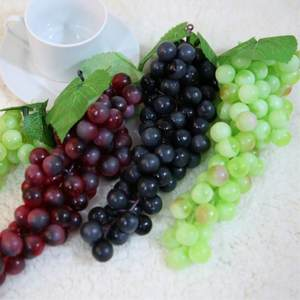 Artificial Fruits 1 PCS Artificial Grapes DIY Plastic Fake Fruit Christmas Home Wedding Decoration