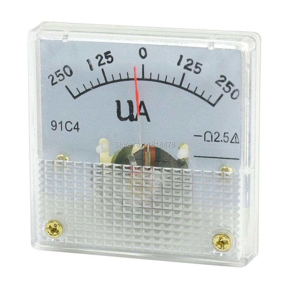 Прямоугольный аналоговый панельный амперметр DC 0-2,5 мА, датчик амперметр, класс
