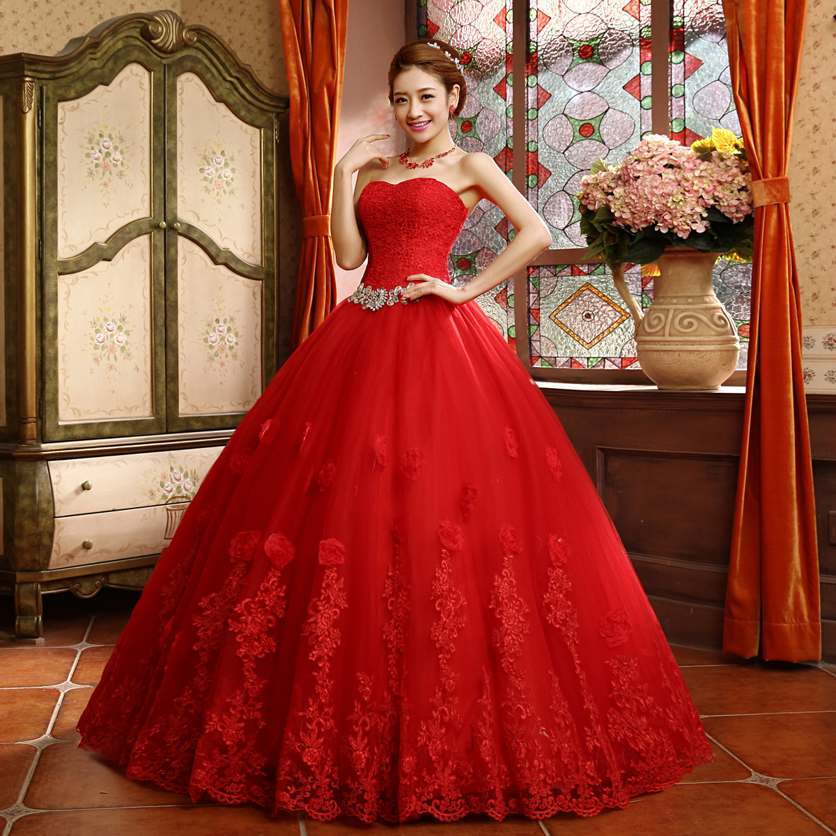 Wedding Gowns In China: Popular Red Wedding Dresses-Buy Cheap Red Wedding Dresses