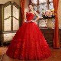 2015 Superventas del vestido de Bola Vestido de Novia de Encaje de Tul Rojo Estilo Chino Barato de China vestido de Novia Tienda Online