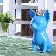 ceramic Chihuahua Canis lupus familiaris dog statue home decoration accessories crafts room decoration porcelain animal figurine canis синий