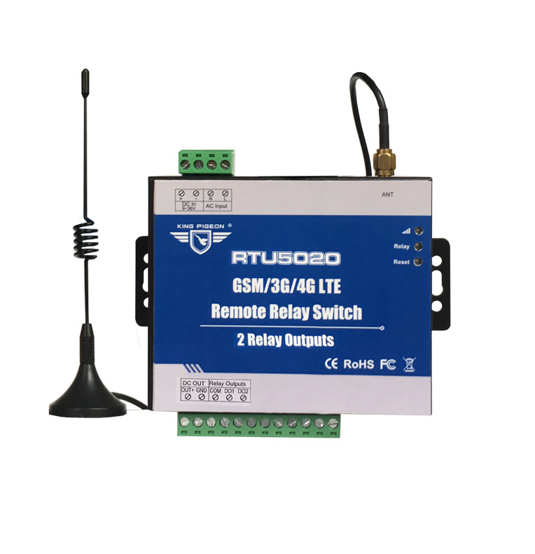RTU5020 Direct Factory GSM SMS GPRS 3G 4G Remote Relay Switch No Distance Limitation 2 Relay Outputs Wireless Cellular Network arduino atmega328p gboard 800 direct factory gsm gprs sim800 quad band development board 7v 23v with gsm gprs bt module