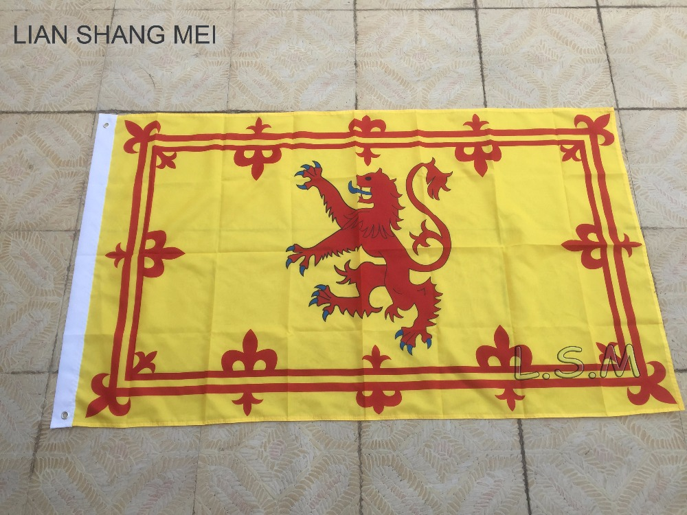 NEW 3x5 SCOTLAND LION FLAG BANNER better quality usa seller