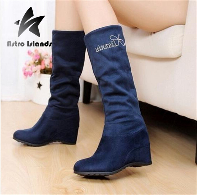 Aliexpress.com : Buy New Snow Boots Women 2016 New Wedges Warm ...