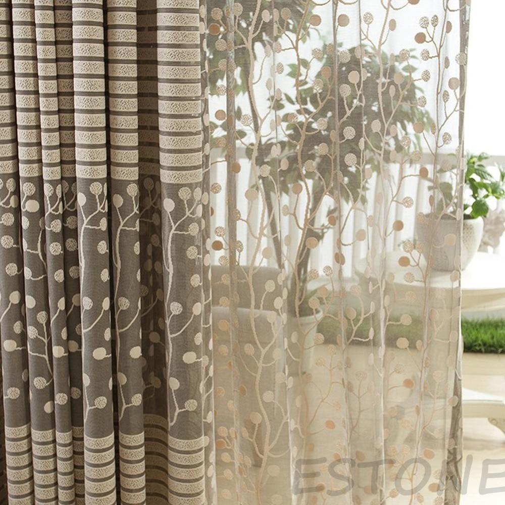 Hot Grey Striped Pachira Drape Balcony Bedroom Living Room Window Drape Curtain