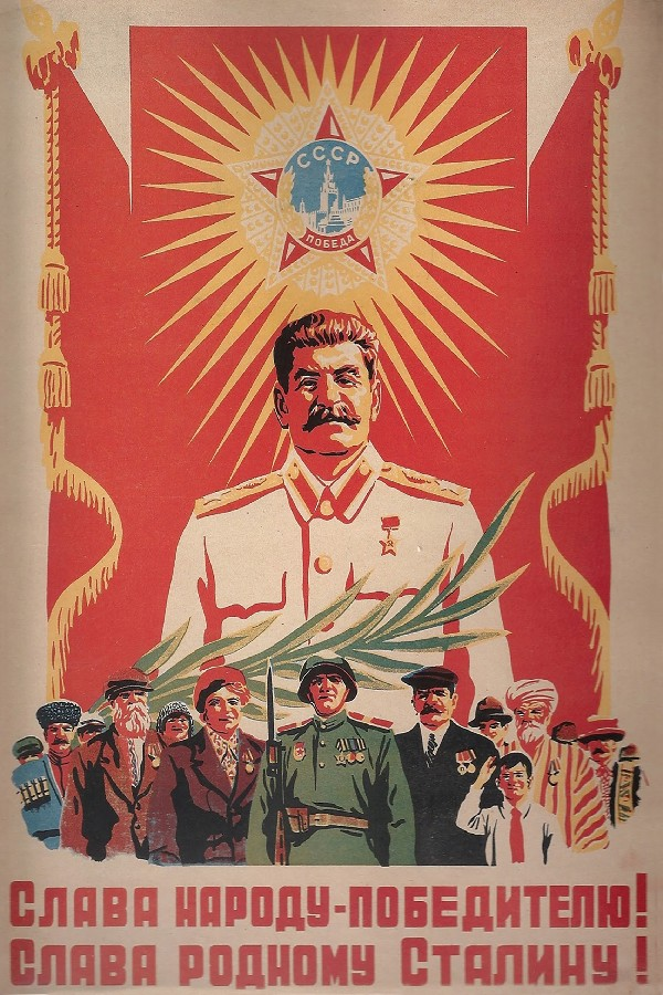 DIY frame Soviet Era Union With Stalin Communism Wall Decor posters art silk Fabric Poster