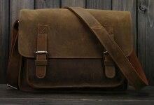 Винтаж Crazy Horse кожа Для мужчин сумка кроссбоди мешок Для мужчин сумка натуральная кожа сумка мужской для отдыха из воловьей кожи 2016(China)
