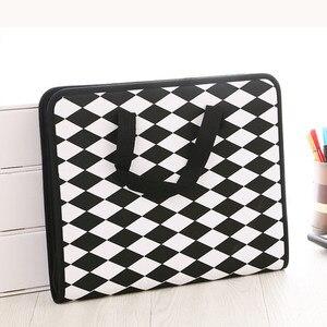 Image 4 - Fashion Expanding File Folder for Documents Case A4 Document Bag Multi Pocket File Organizer Zipper Bag