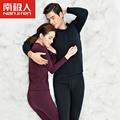 Cotton Thermal Underwear Plus Thick Velvet Autumn And Winter Men's Round Neck Couple Unnderwear Suit Sleepwear Suit For Lovers