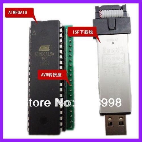 2 set/lot 51 + AVR + ARM Integrado a Bordo de Aprendizaje MCU Junta de Desarrollo AVR Junta Adaptador Cable de Descarga de ISP
